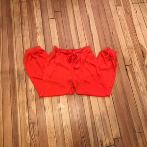 miss avenue orange jogger pant size L - 3 for $20